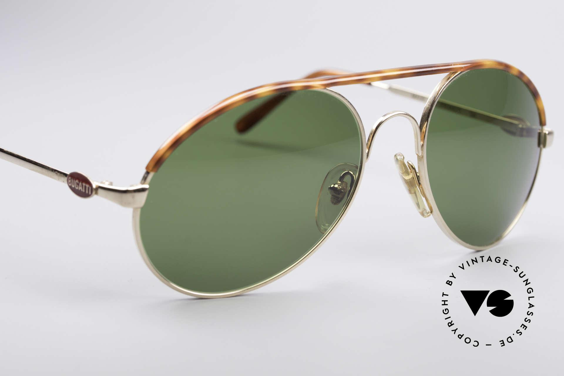 Bugatti 65986 80er Herren Sonnenbrille, ungetragen (wie alle unsere vintage BUGATTIS), Passend für Herren