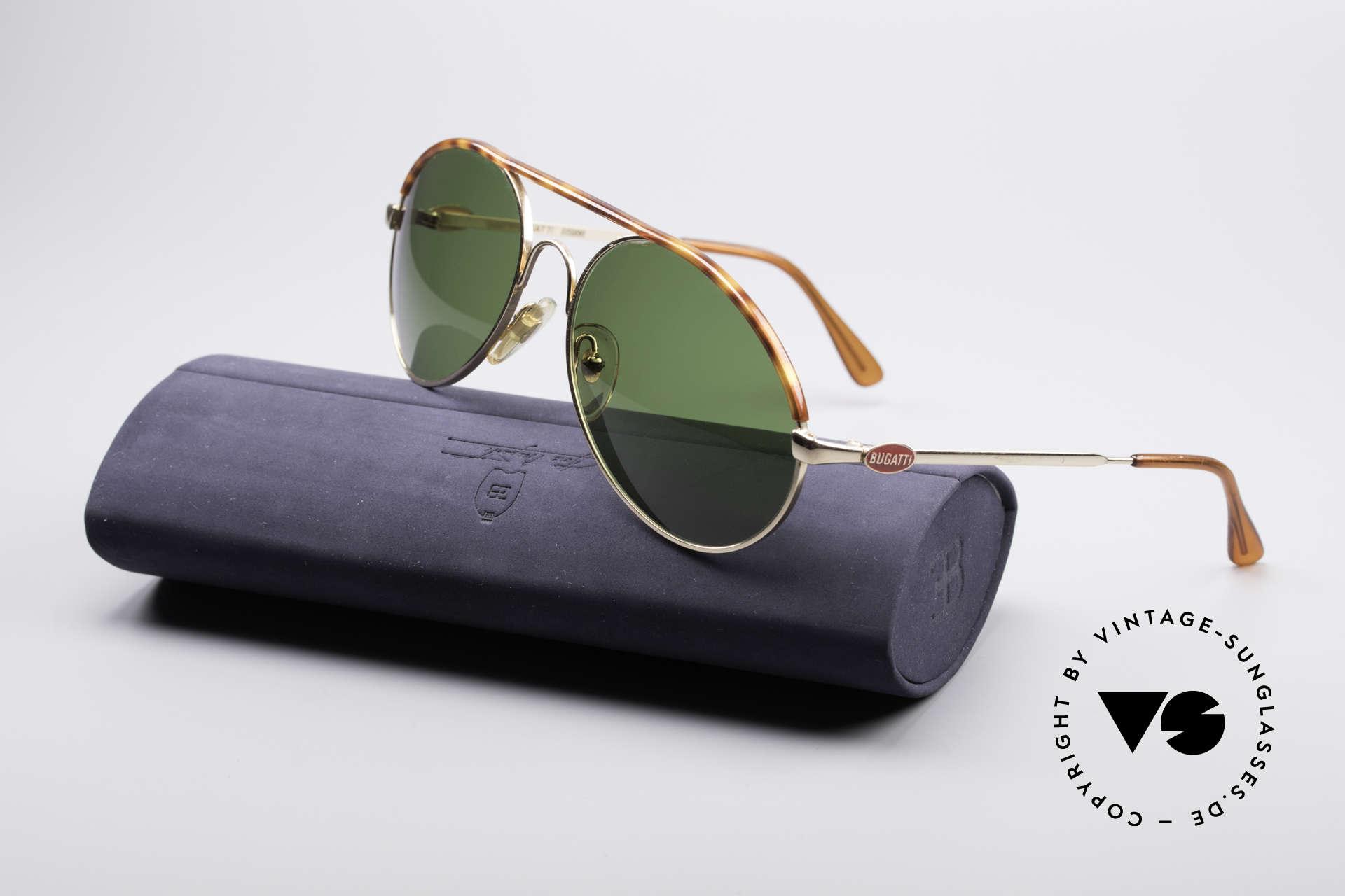 Bugatti 65986 80er Herren Sonnenbrille, KEINE Retrobrille; sondern ein altes ORIGINAL, Passend für Herren