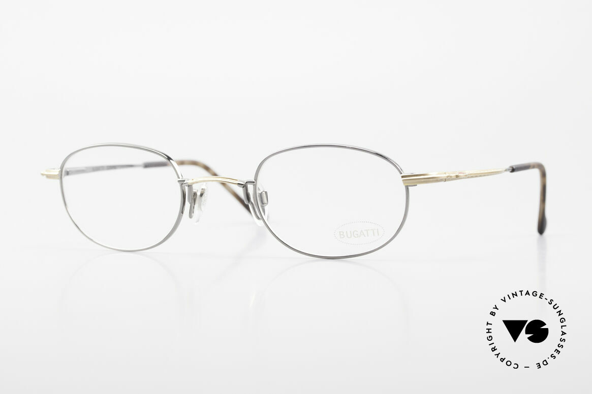 Bugatti 23592 Rare 90er Luxus Brillenfassung, circa Mitte der 90er J. in Frankreich produziert, Passend für Herren
