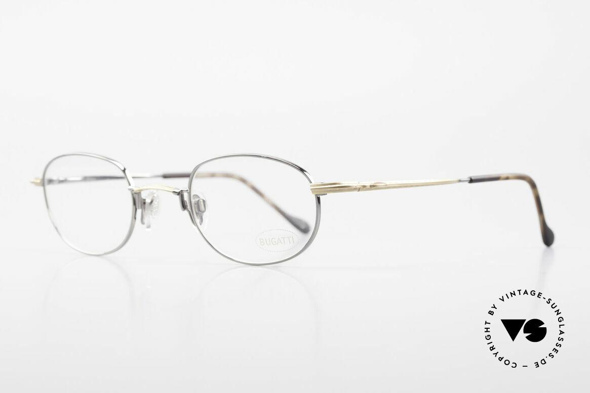 Bugatti 23592 Rare 90er Luxus Brillenfassung, ergonomisch geformter Rahmen in Top-Qualität, Passend für Herren