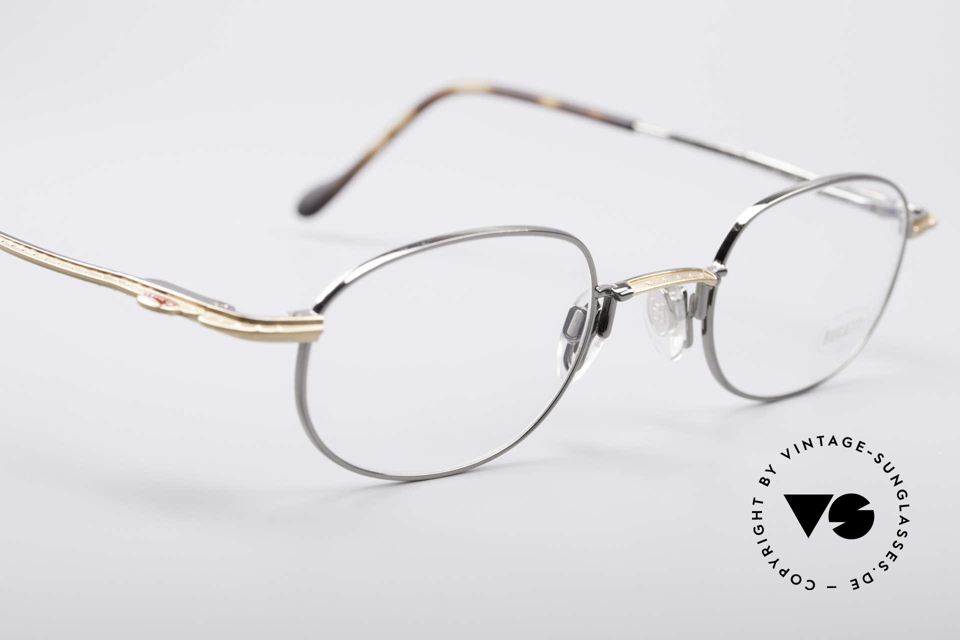 Bugatti 23592 Rare 90er Luxus Brillenfassung, zudem Federgelenke und sehr leicht (Titanium), Passend für Herren