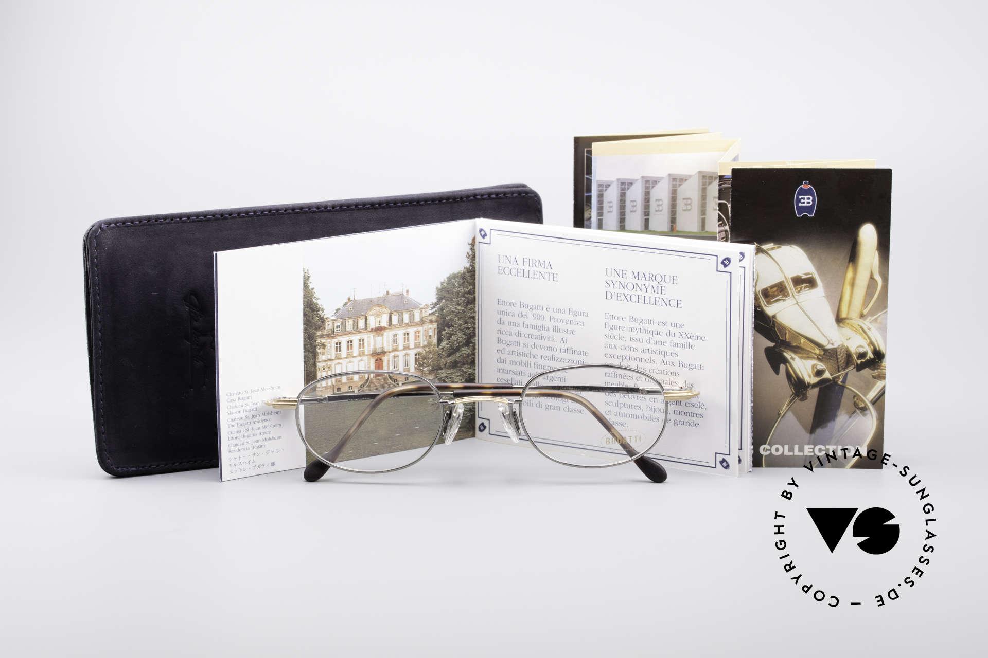 Bugatti 23592 Rare 90er Luxus Brillenfassung, KEINE Retrobrille, sondern ein altes ORIGINAL, Passend für Herren