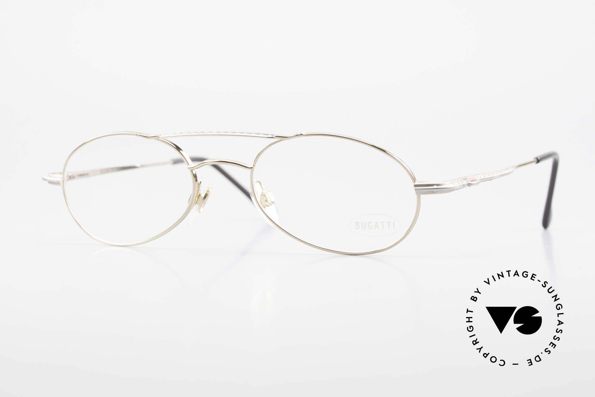 Bugatti 22996 Rare 90er Herren Luxusbrille, sehr elegante vintage BUGATTI Brillenfassung, Passend für Herren