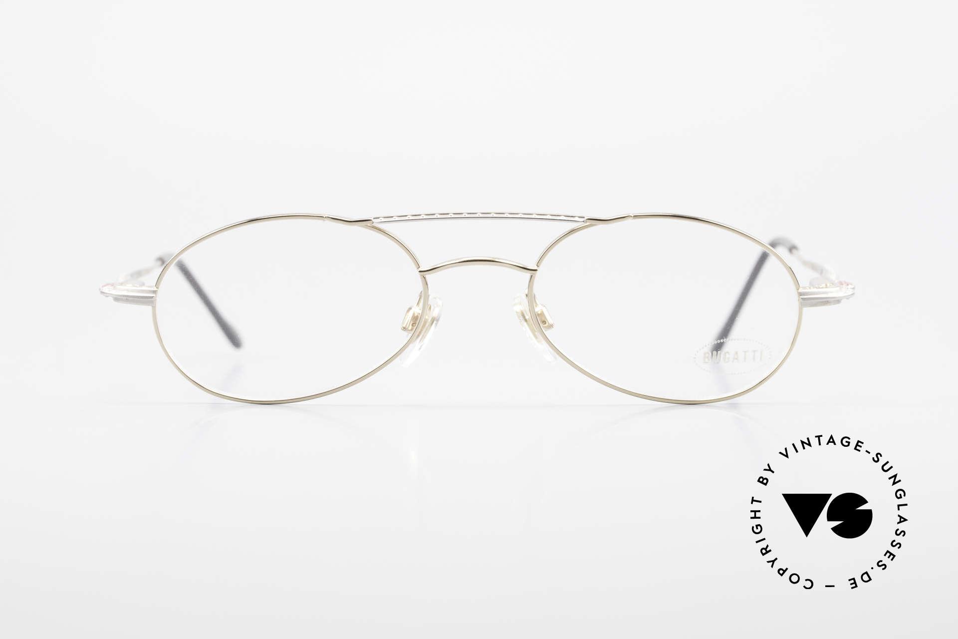 Bugatti 22996 Rare 90er Herren Luxusbrille, circa Mitte der 90er J. in Frankreich produziert, Passend für Herren