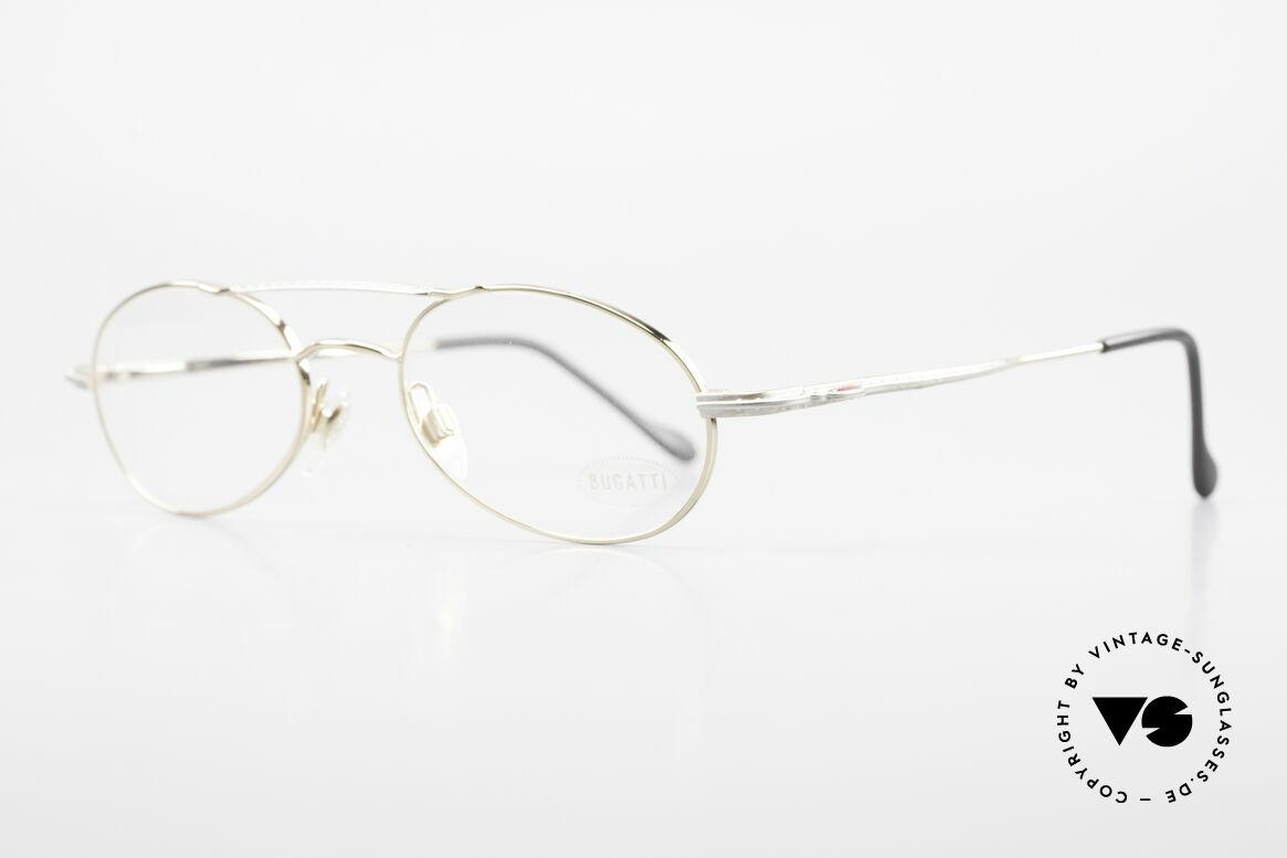 Bugatti 22996 Rare 90er Herren Luxusbrille, ergonomisch geformter Rahmen in Top-Qualität, Passend für Herren