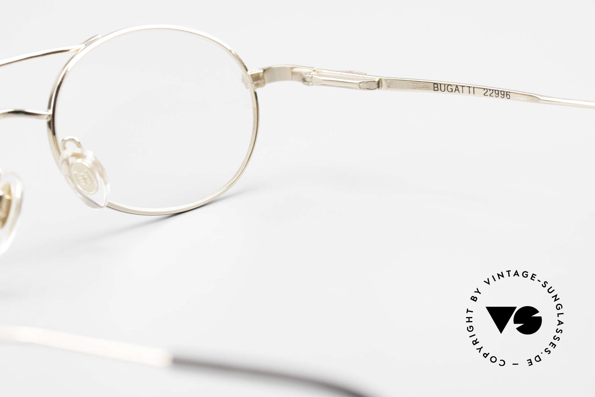 Bugatti 22996 Rare 90er Herren Luxusbrille, Größe: medium, Passend für Herren