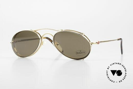 Bugatti 23407 Herrenbrille mit Sonnenclip Details