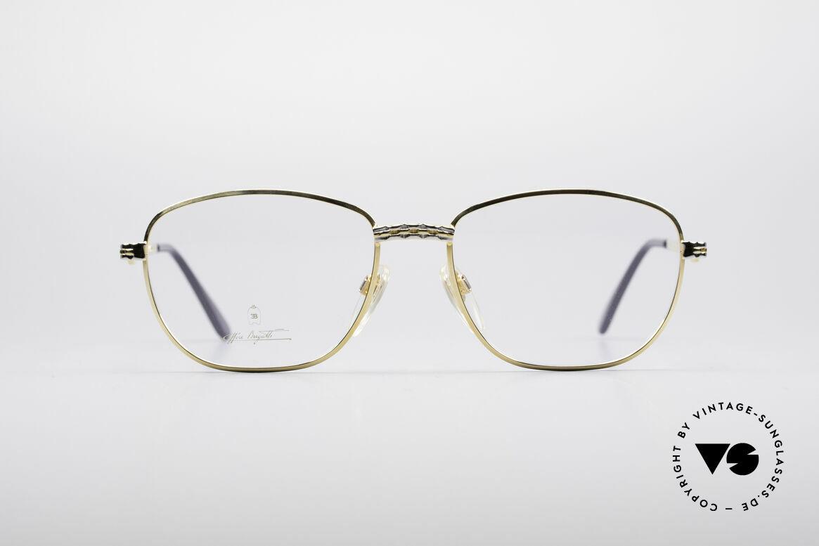 Bugatti EB507 Klassische Luxus Brille, vintage Fassung der Ettore BUGATTI Collection, Passend für Herren