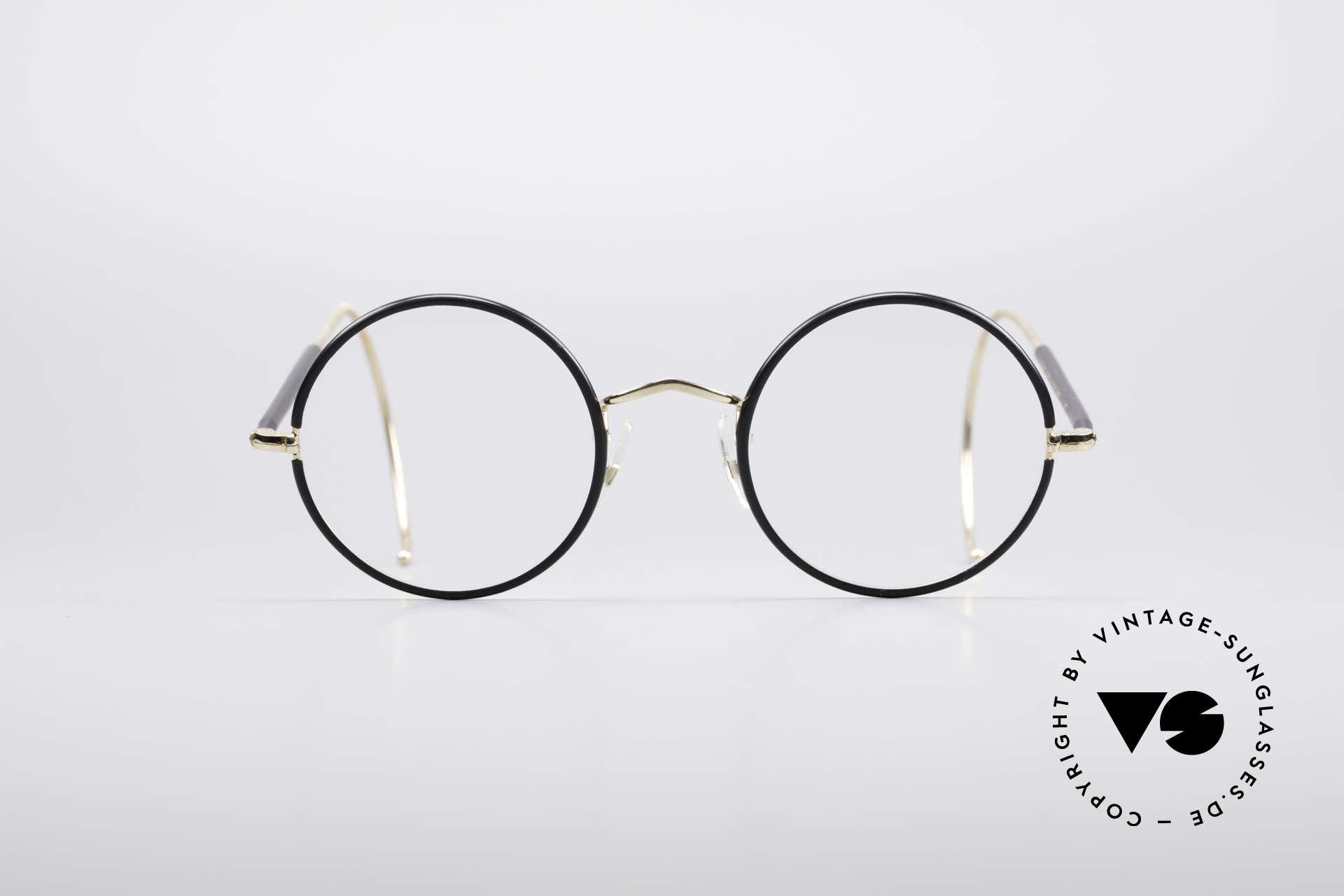 Savile Row Round 47/22 Harry Potter Brille, zeitlos runde vintage Brillenfassung aus den 80ern, Passend für Herren