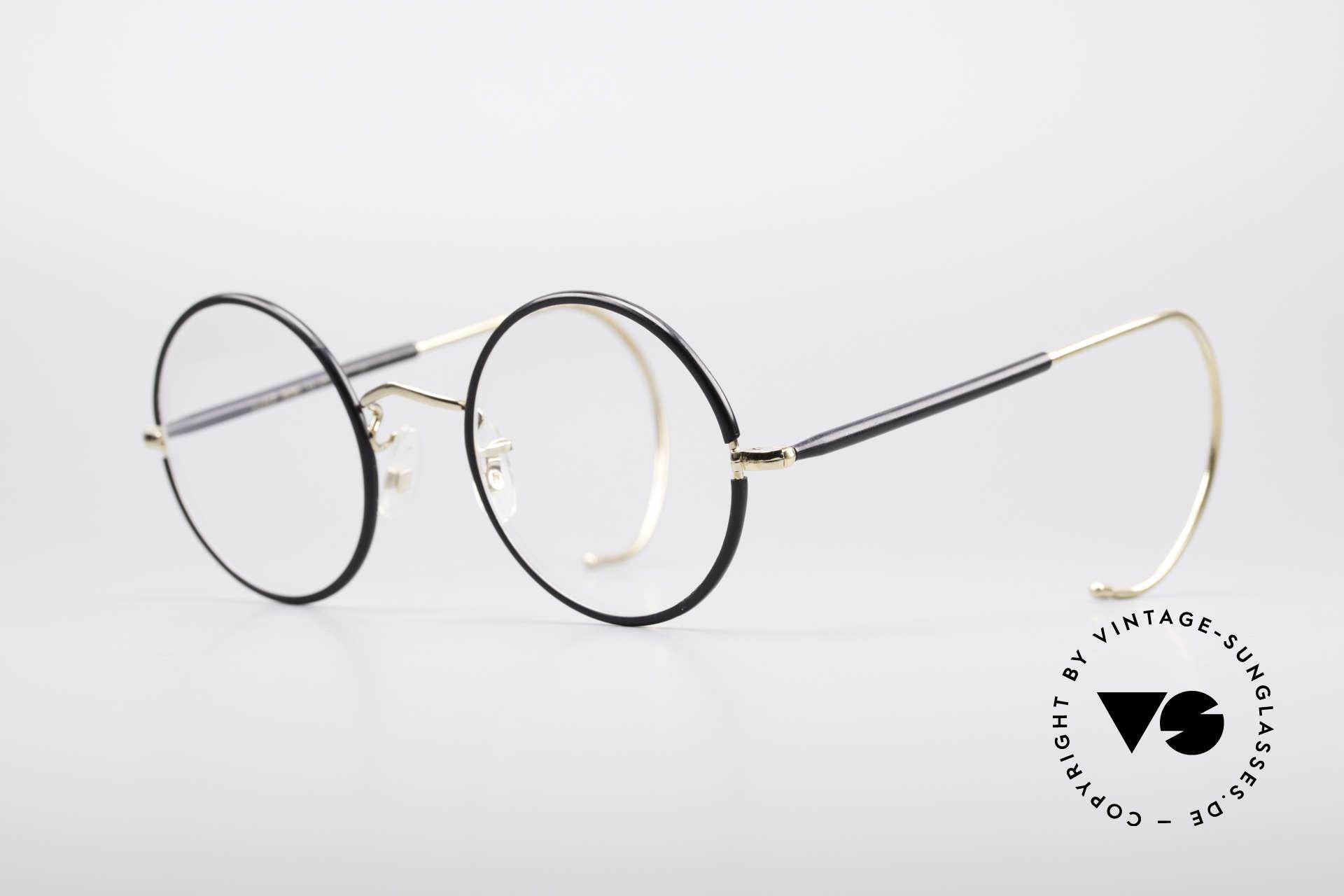 Savile Row Round 47/22 Harry Potter Brille, feinste Fertigungsqualität aus England (gold-filled), Passend für Herren
