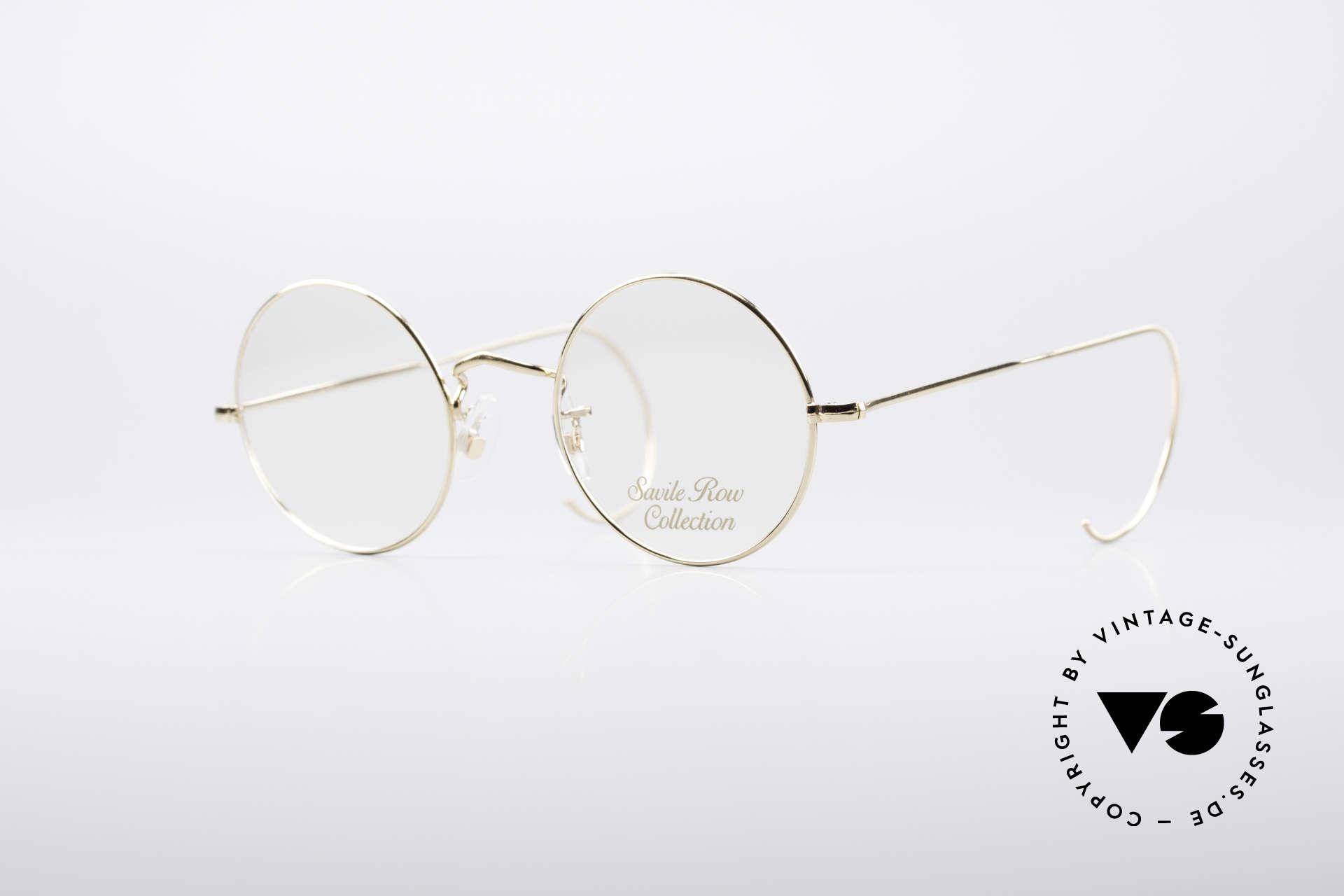 Savile Row Round 44/20 14kt Gold Fassung, 'The Savile Row Collection' von ALGHA, UK Optical, Passend für Herren und Damen