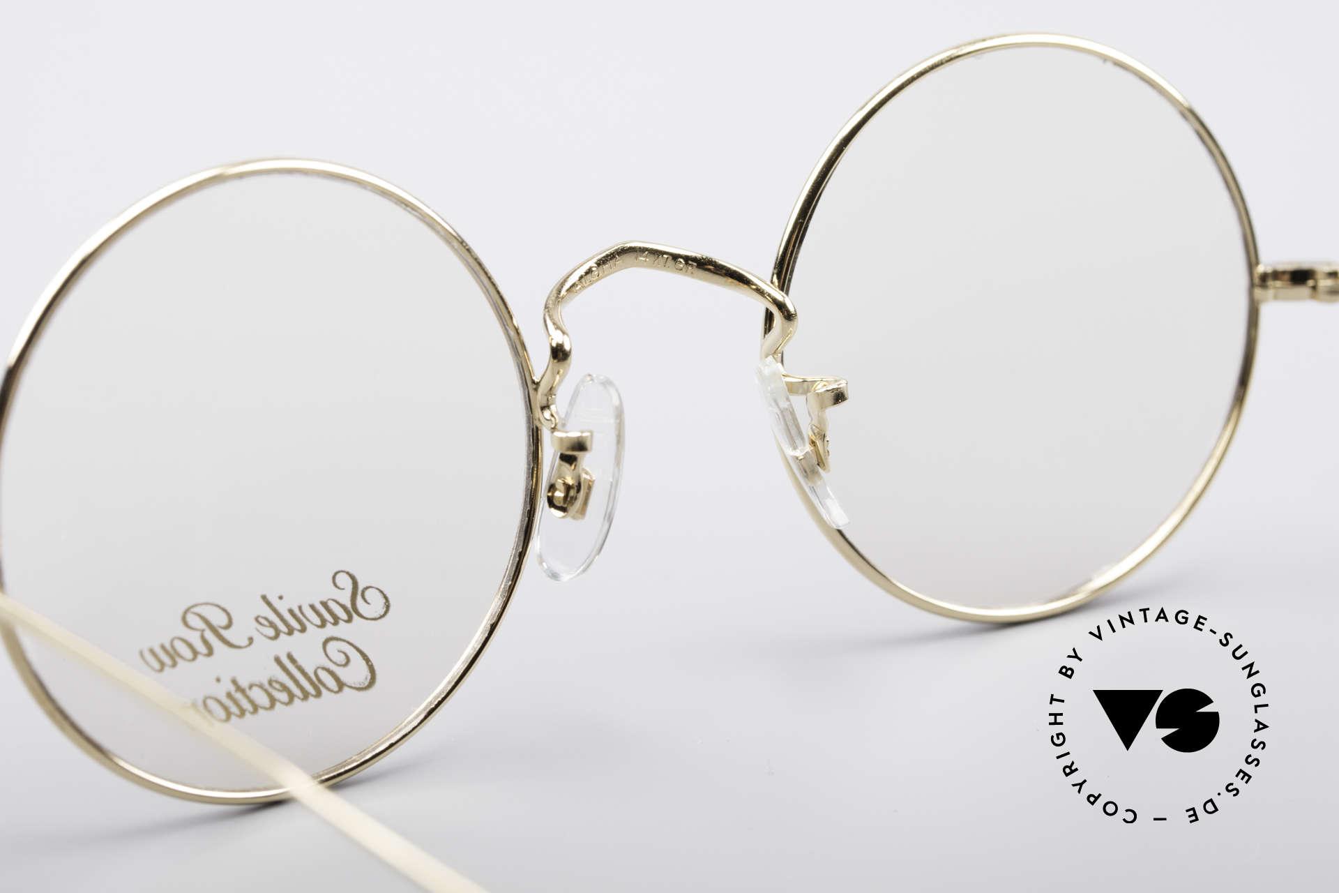 Savile Row Round 44/20 14kt Gold Fassung, Rahmen: 18% Nickel-Silber und 14kt Gold-Überzug, Passend für Herren und Damen
