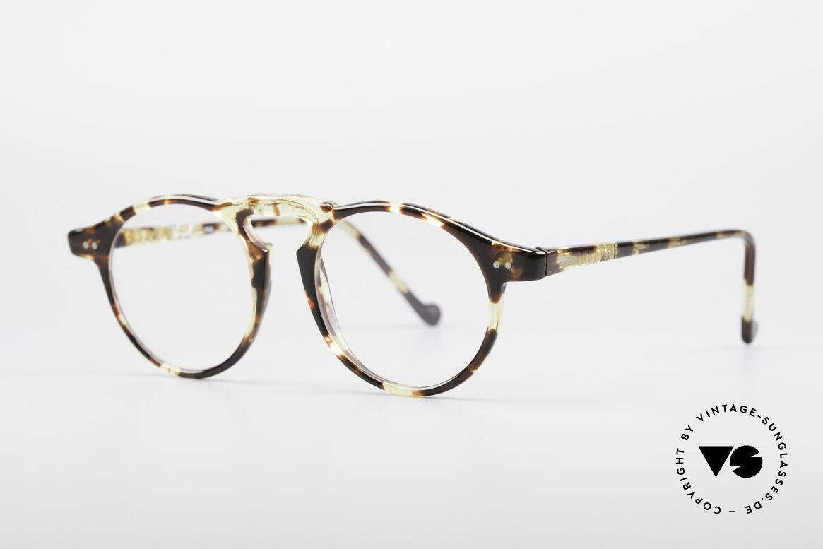 """Persol 750 Ratti 80er Panto Brille, zudem ein interessantes """"Bernstein""""-Rahmenmuster, Passend für Herren und Damen"""