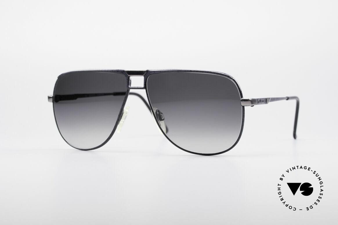 Gucci 1206 80er Designer Herrenbrille, mondäne vintage Designer-Sonnenbrille von Gucci, Passend für Herren