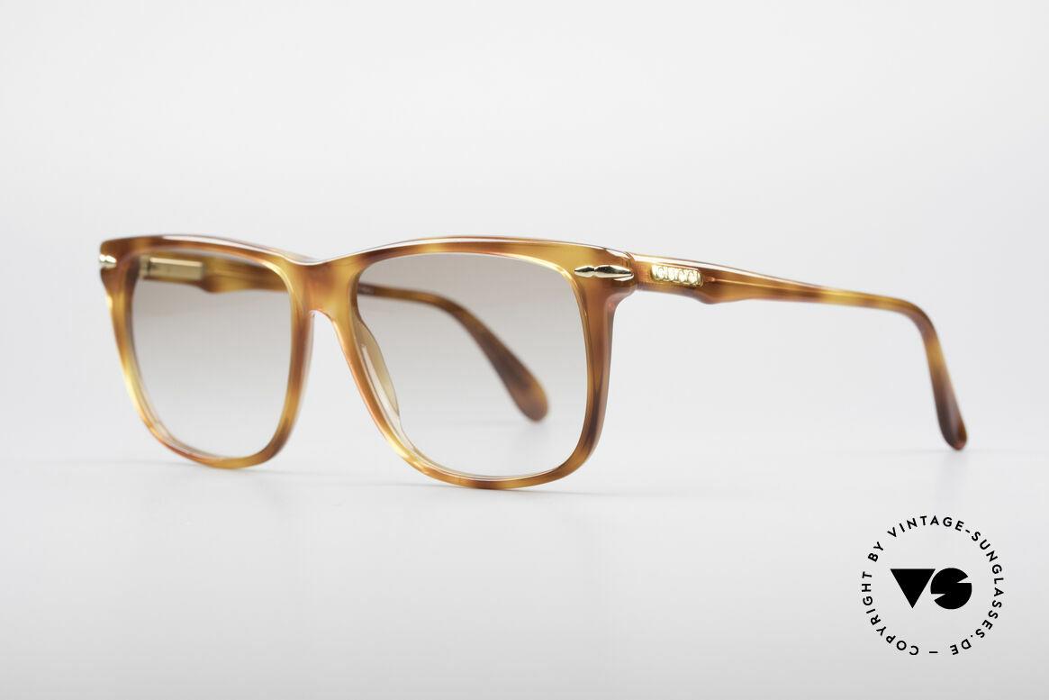 Gucci 1115 Klassische 80er Sonnenbrille, Top-Qualität und Passform dank Feder-Scharnieren, Passend für Herren