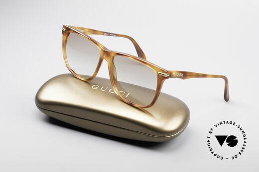 Gucci 1115 Klassische 80er Sonnenbrille, nur sehr leicht getönte Gläser (auch abends tragbar), Passend für Herren