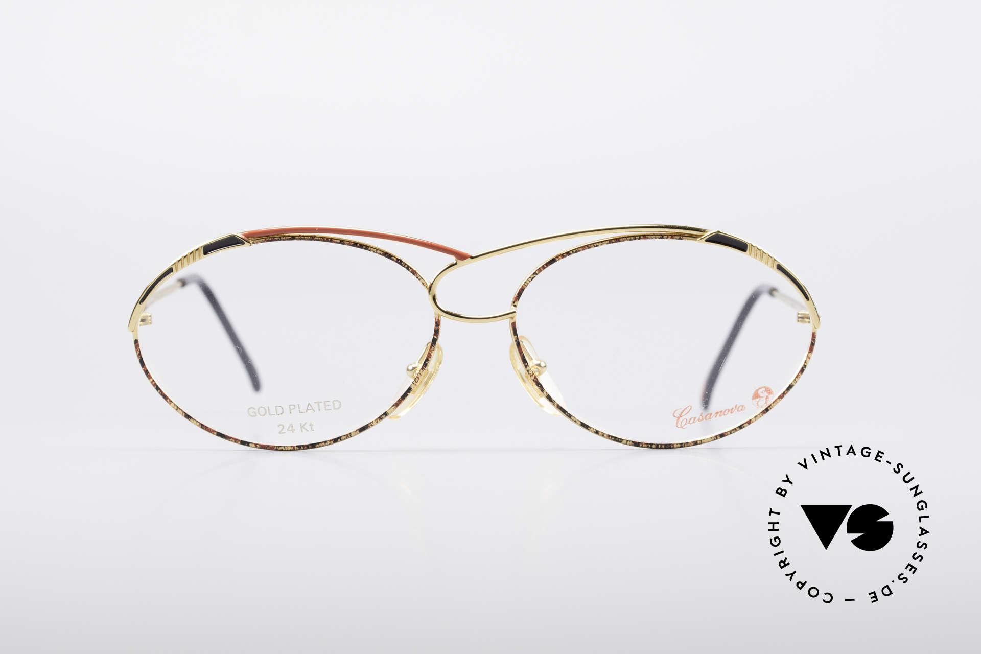 Casanova LC13 24kt Vergoldete Brille, tolles Zusammenspiel v. Farbe, Form & Funktionalität, Passend für Damen