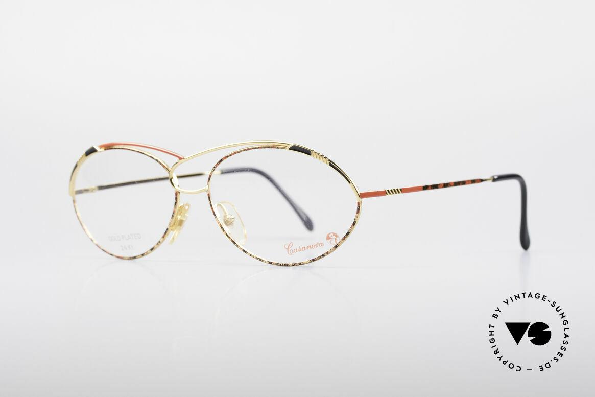 Casanova LC13 24kt Vergoldete Brille, äußerst hochwertige, 24kt vergoldete vintage Fassung, Passend für Damen
