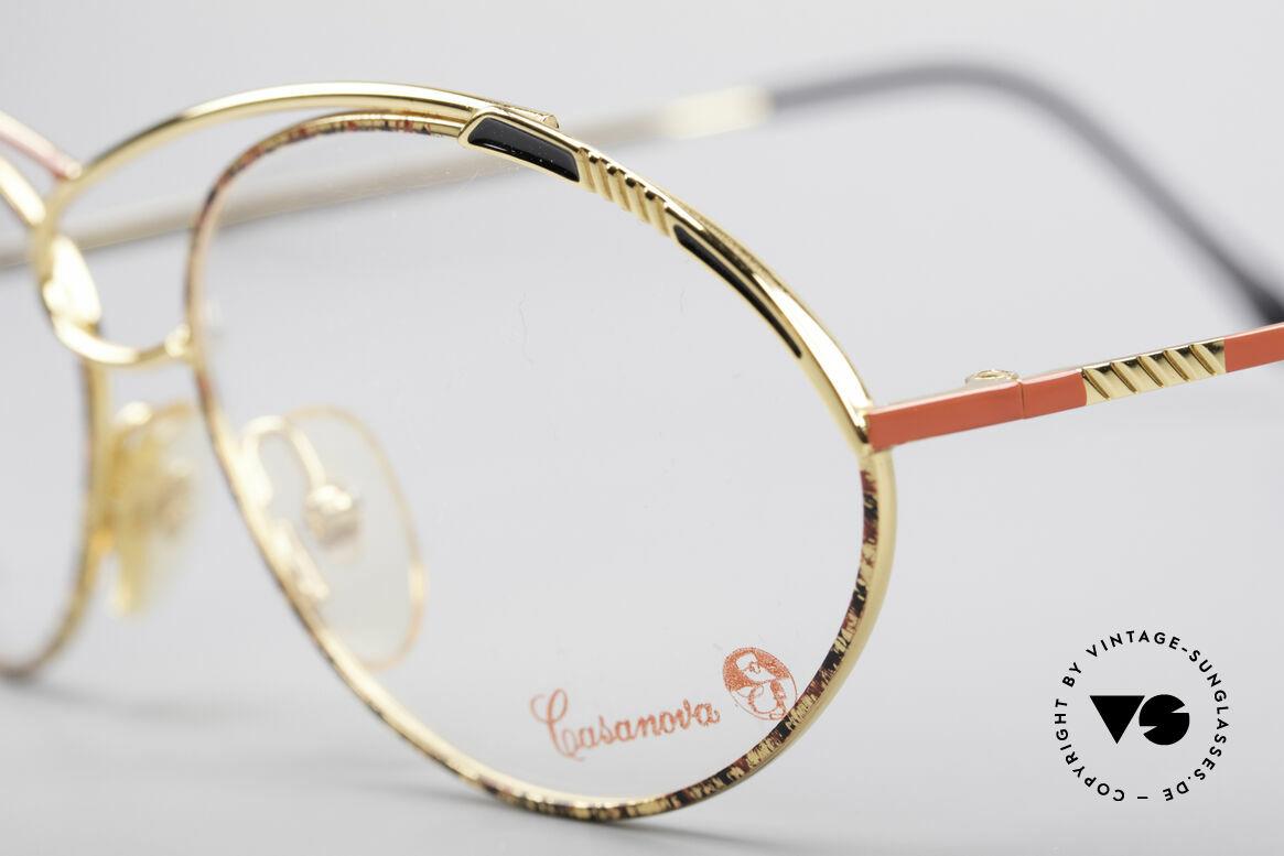 Casanova LC13 24kt Vergoldete Brille, Rarität & absolutes Sammler-Highlight (Museumsstück), Passend für Damen