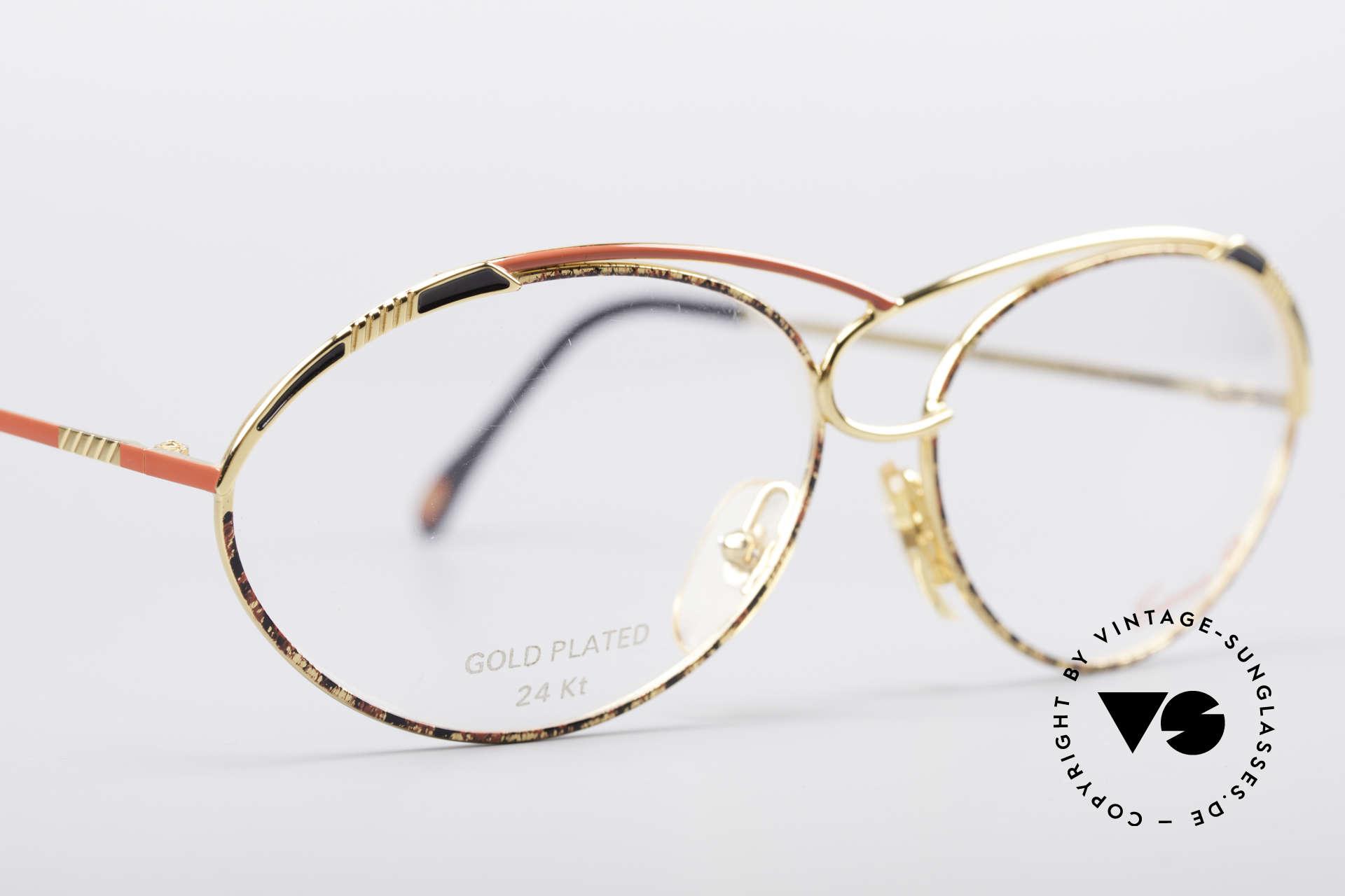Casanova LC13 24kt Vergoldete Brille, ungetragen (wie alle unsere 80er vintage Kunst-Brillen), Passend für Damen