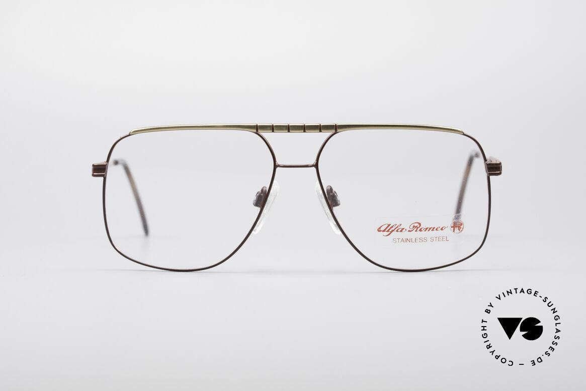 Alfa Romeo 60-252 80er Vintage Brille, tadellos in Design, Materialien und deren Verarbeitung, Passend für Herren