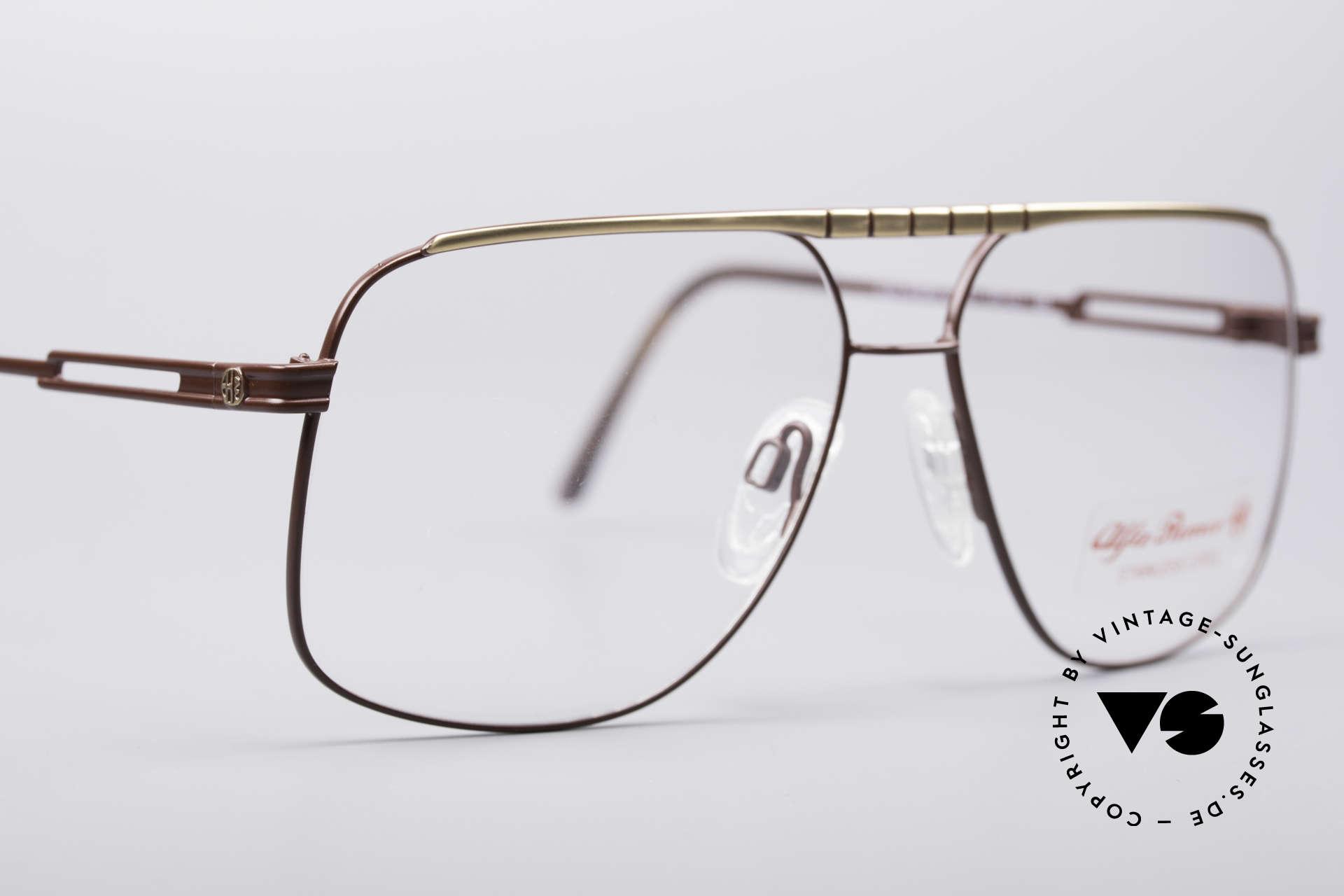 Alfa Romeo 60-252 80er Vintage Brille, ungetragen (wie alle unsere Alfa Romeo vintage Brillen), Passend für Herren