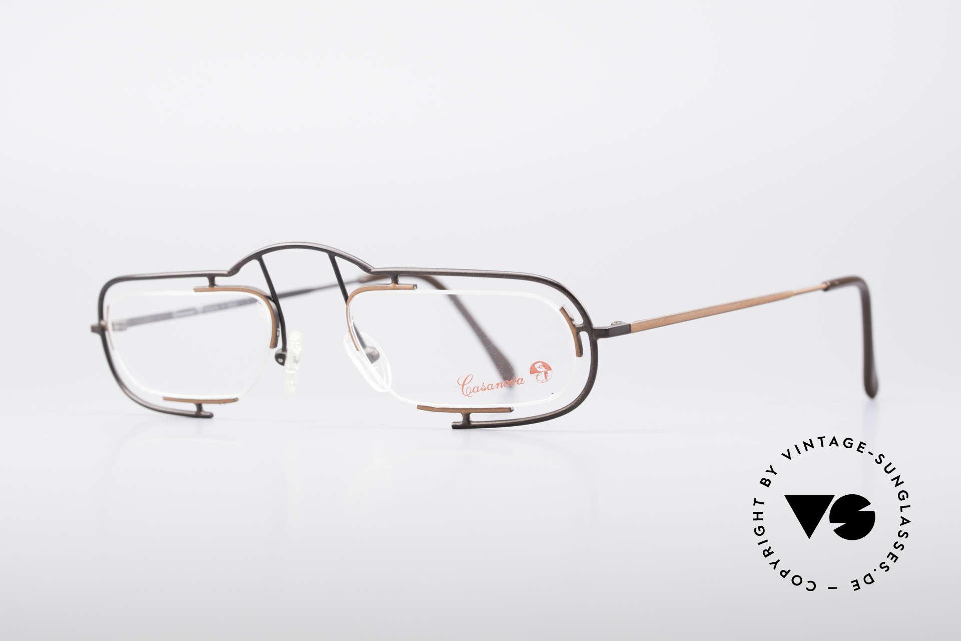 Casanova Clayberg Seltene Vintage Brille 80er, sehr leicht und in von absoluter Spitzen-Qualität, Passend für Herren und Damen