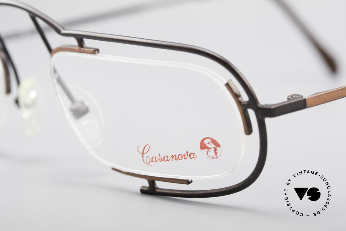 Casanova Clayberg Seltene Vintage Brille 80er, ungetragen (wie alle unsere seltenen Fassungen), Passend für Herren und Damen
