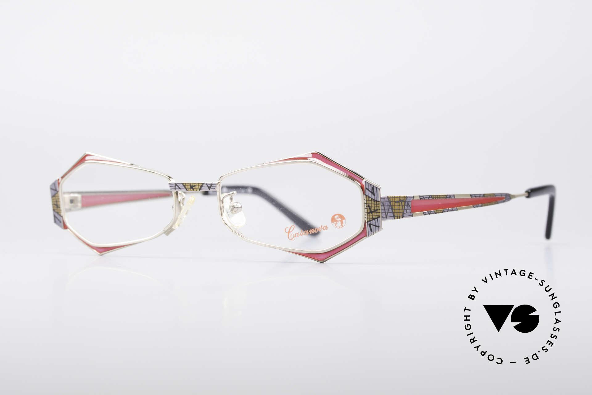 Casanova LC54 Damen Vintage Brille, eine wirklich sehr außergewöhnliche Designer-Brille!, Passend für Damen