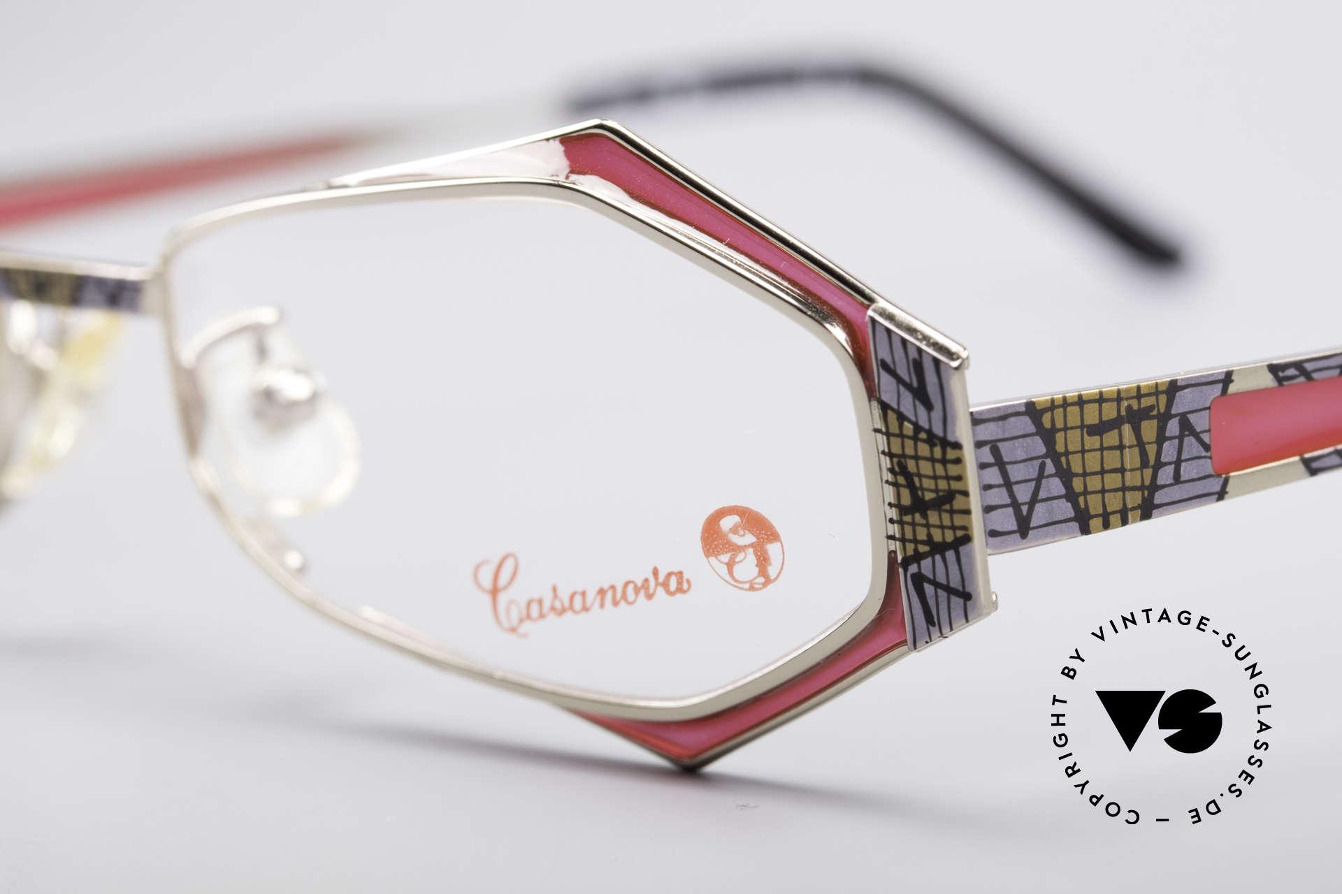 Casanova LC54 Damen Vintage Brille, ungetragen (wie alle unsere kunstvollen CASANOVAS), Passend für Damen