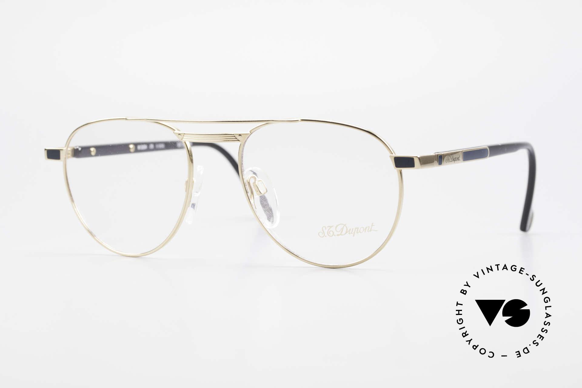 S.T. Dupont D004 90er Luxus Pilotenbrille Herren, sehr exklusive und kostbare S.T. Dupont Luxus-Brille, Passend für Herren