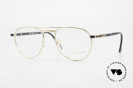 S.T. Dupont D004 90er Luxus Pilotenbrille Herren Details