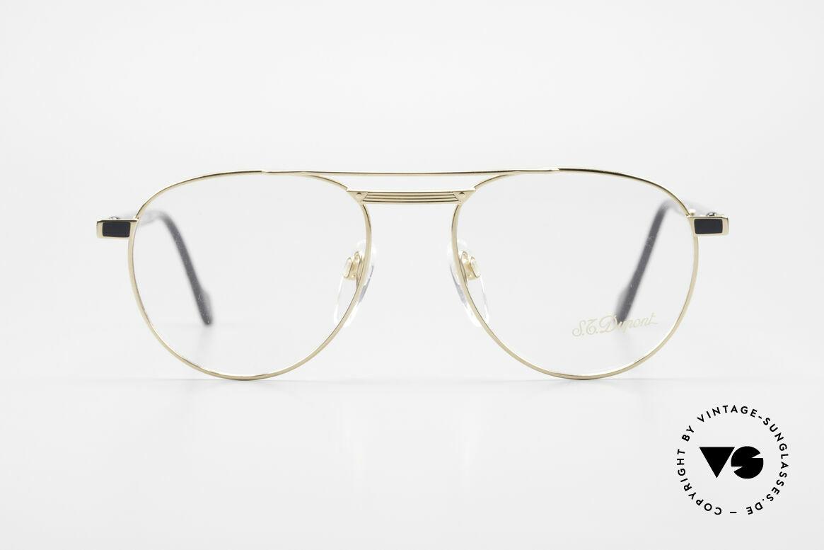 S.T. Dupont D004 90er Luxus Pilotenbrille Herren, hochwertige Verarbeitung & Top-Passform, Gr. 52°18, Passend für Herren