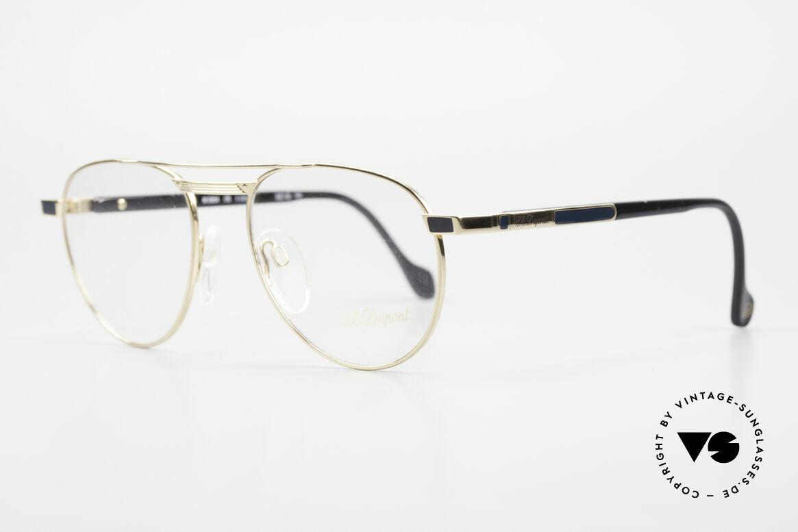 S.T. Dupont D004 90er Luxus Pilotenbrille Herren, äußerst edel (alle S.T. Dupont Modelle sind vergoldet), Passend für Herren