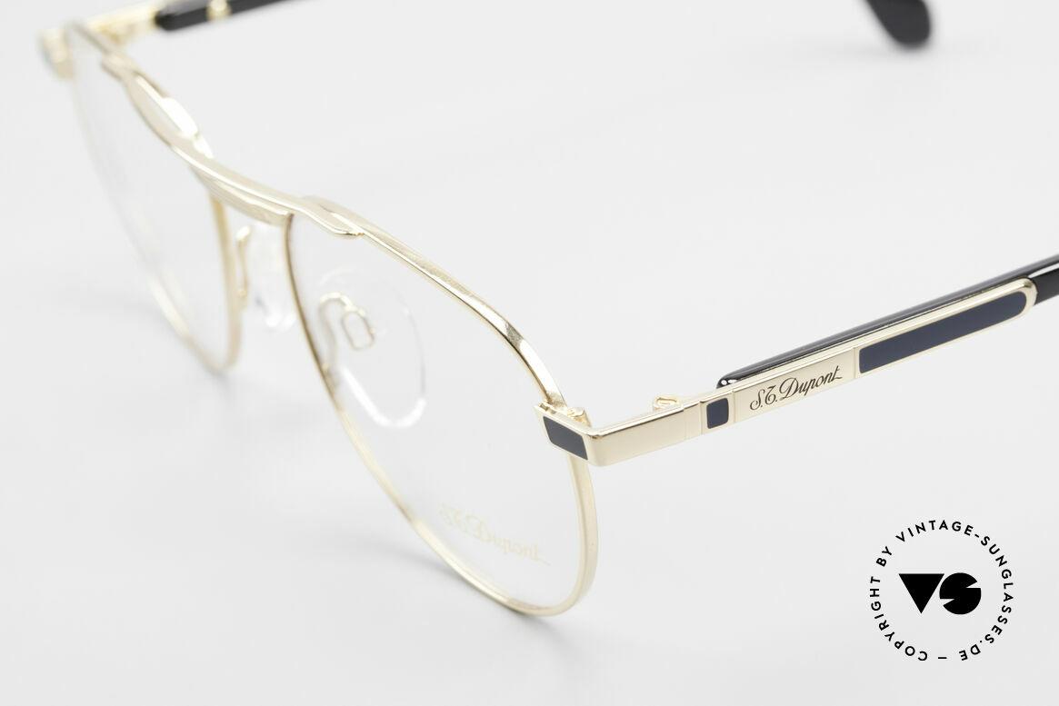 S.T. Dupont D004 90er Luxus Pilotenbrille Herren, inkl. orig. St. Dupont Etui, Putztuch, Zertifikat & Box, Passend für Herren