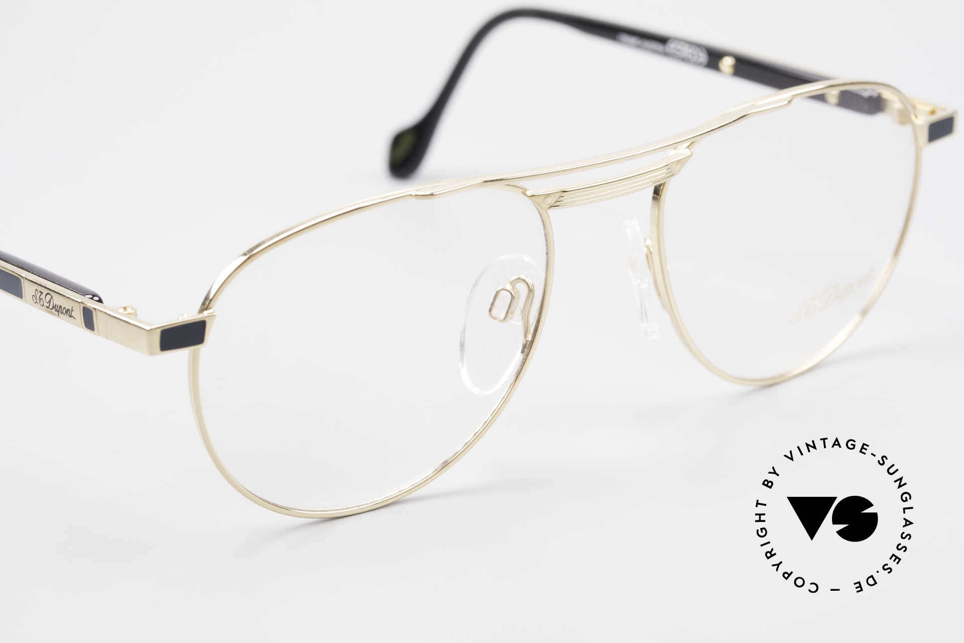 S.T. Dupont D004 90er Luxus Pilotenbrille Herren, ungetragen (wie all unsere Dupont vintage Fassungen), Passend für Herren