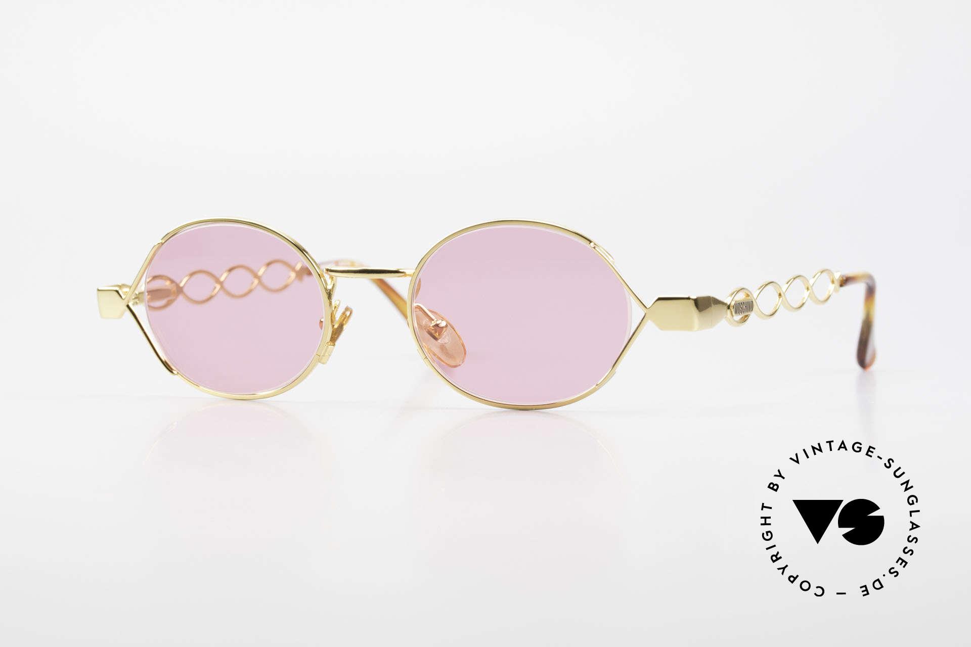 Moschino MM334 Designer Damen Brille Pink, bezaubernde pinke Moschino vintage Sonnenbrille, Passend für Damen