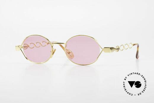 Moschino MM334 Designer Damen Brille Pink Details