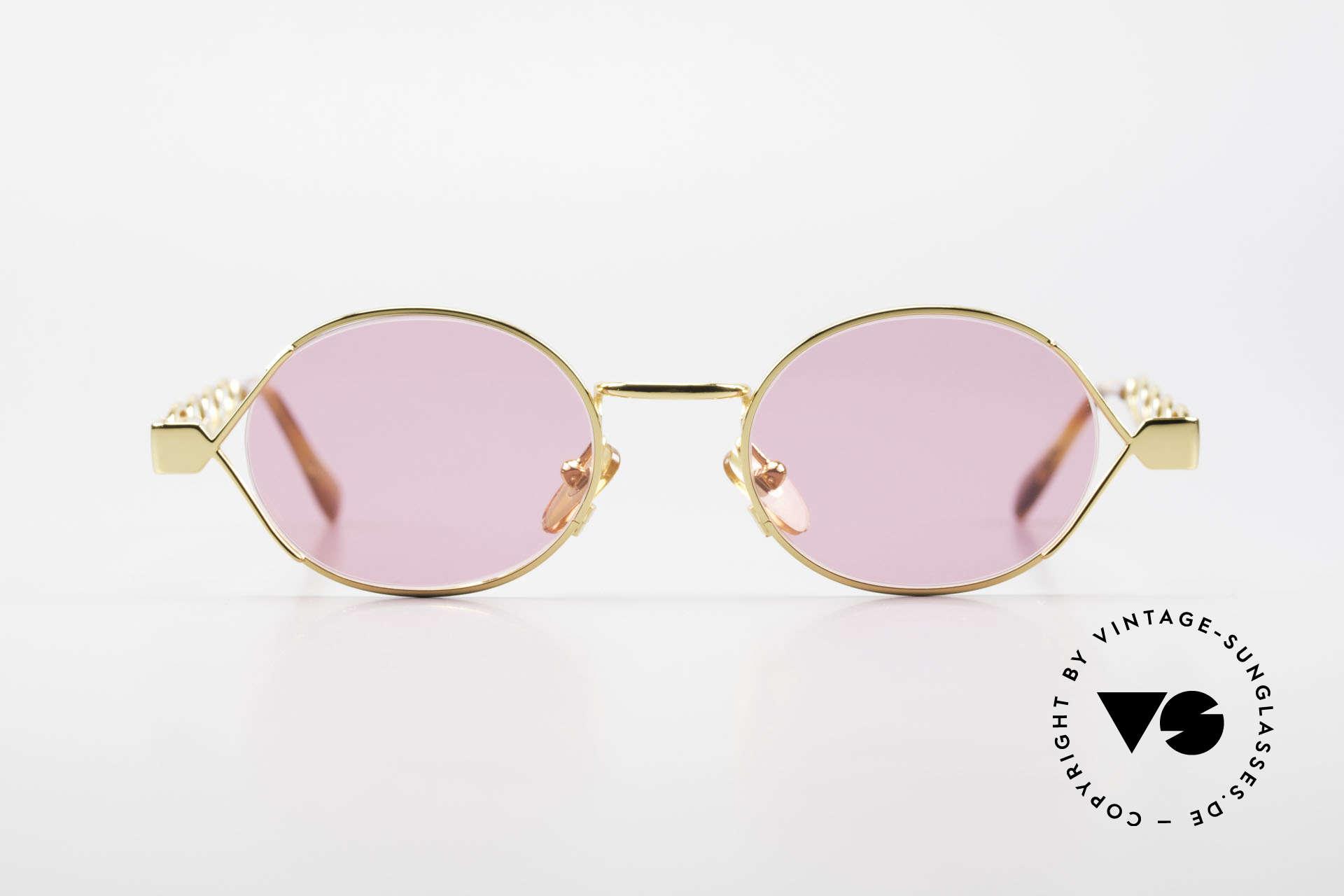 Moschino MM334 Designer Damen Brille Pink, kreative Ausführung der klassischen runden Form, Passend für Damen