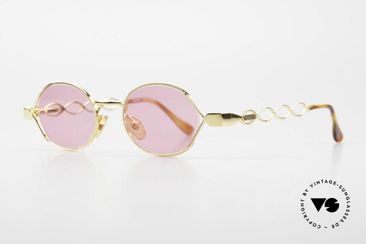Moschino MM334 Designer Damen Brille Pink, Moschino-Kreationen von Persol produziert (90er), Passend für Damen