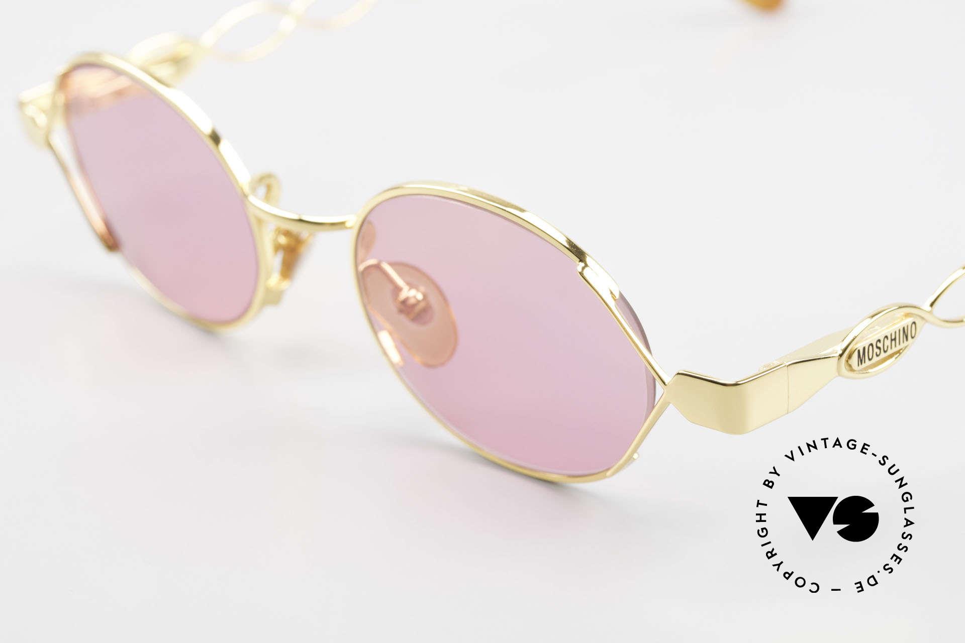 Moschino MM334 Designer Damen Brille Pink, daher Top-Qualität: Federgelenke & Goldlegierung, Passend für Damen