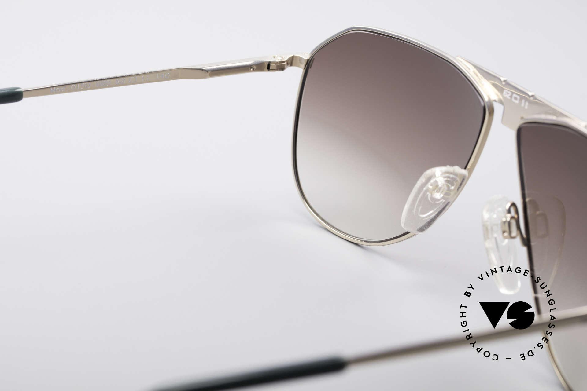 Longines 0150 Echte Vintage Pilotenbrille, KEINE Retrobrille, sondern ein altes 80er Original!, Passend für Herren