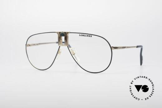 Longines 0154 Echte 80er Pilotenbrille Details