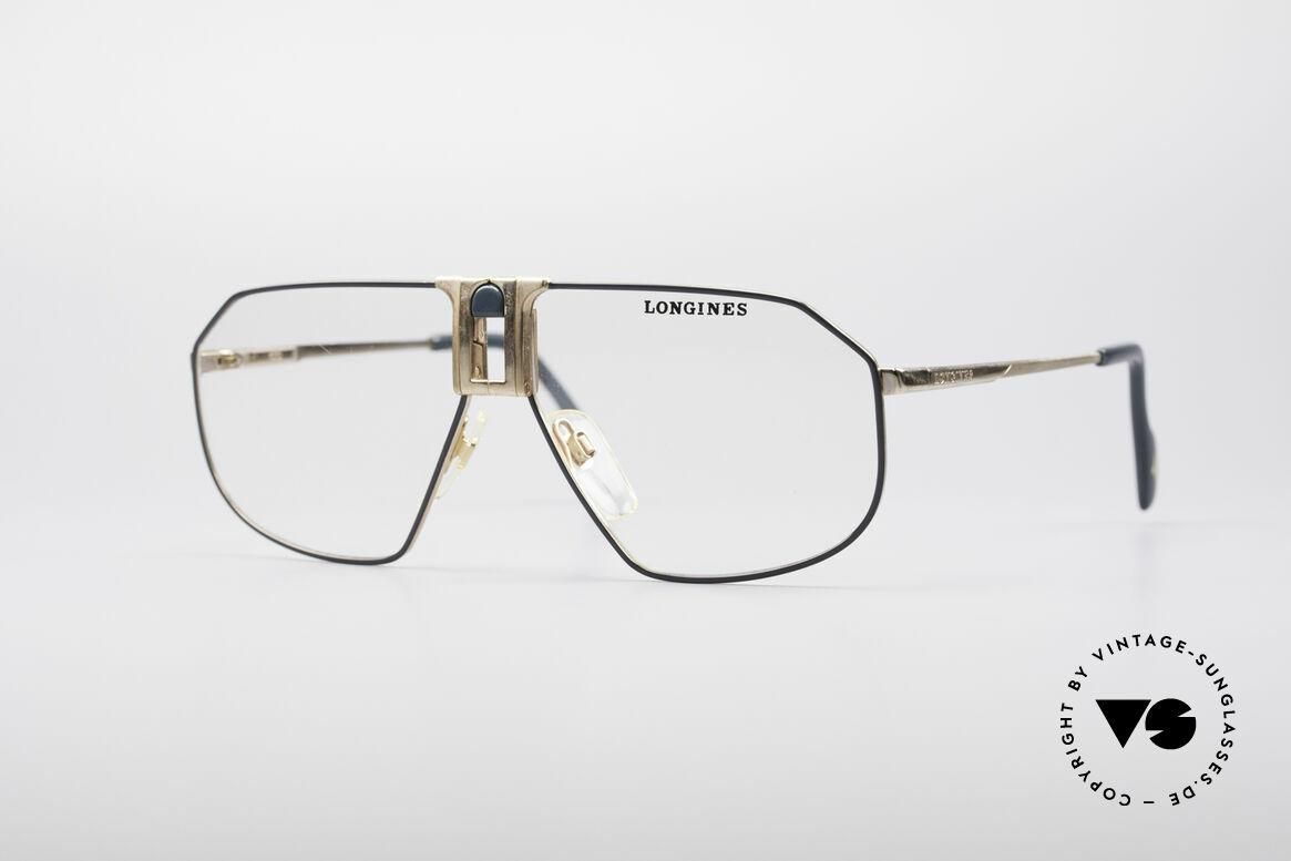 Longines 0153 80er Luxus Herrenbrille, hochwertige vintage Brillenfassung von LONGINES, Passend für Herren