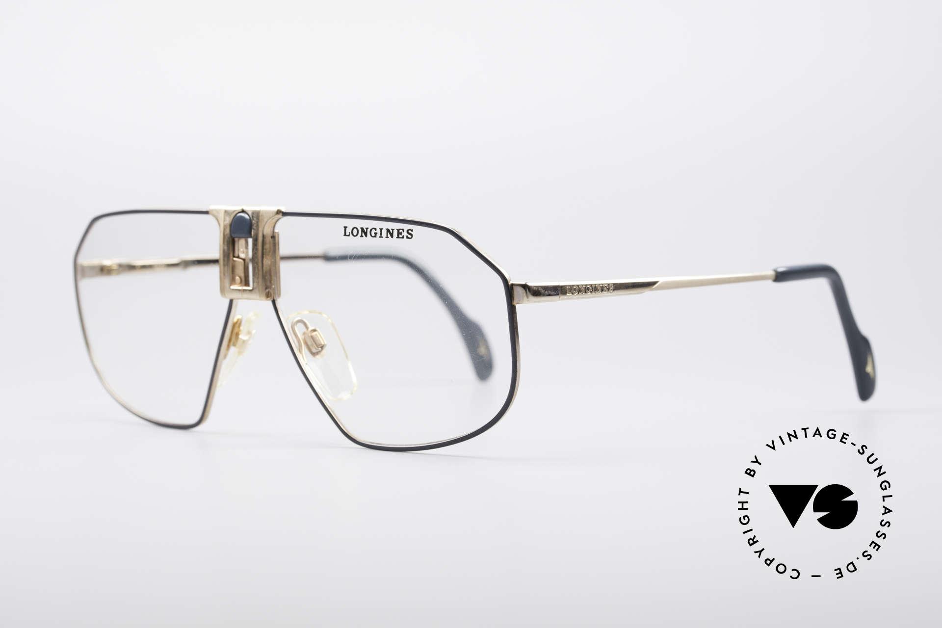 Longines 0153 80er Luxus Herrenbrille, für Longines im Traditionshaus Metzler produziert, Passend für Herren