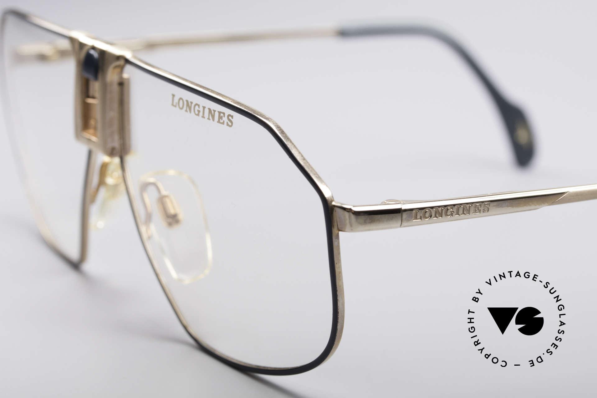 Longines 0153 80er Luxus Herrenbrille, Premium-Qualität und markant (mal 'was anderes'), Passend für Herren