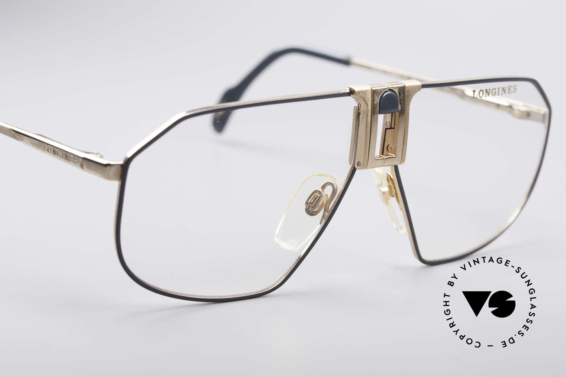 Longines 0153 80er Luxus Herrenbrille, ungetragen (wie alle unsere vintage Designerbrillen), Passend für Herren