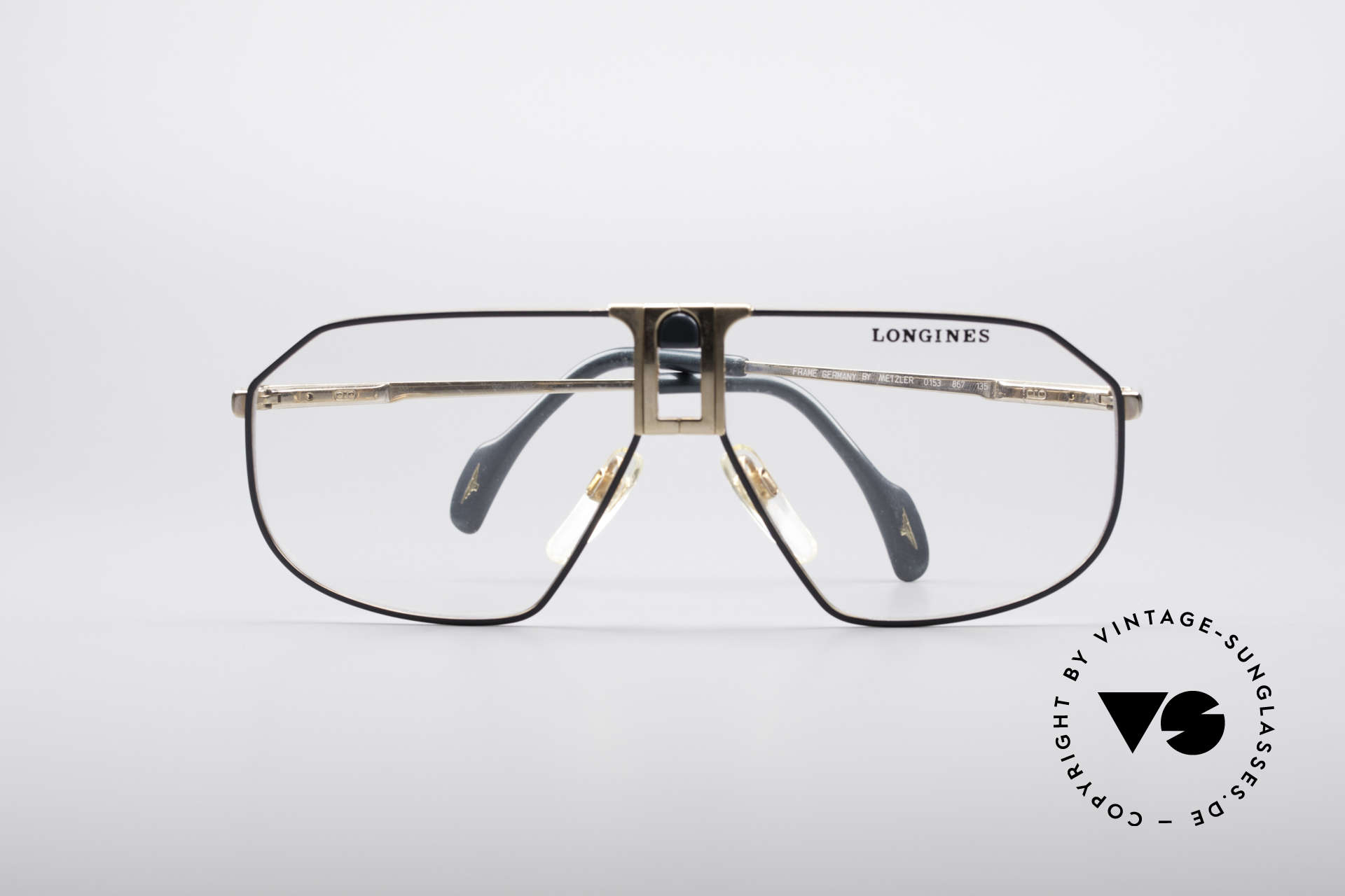 Longines 0153 80er Luxus Herrenbrille, KEINE Retrobrille, sondern ein altes 80er ORIGINAL, Passend für Herren