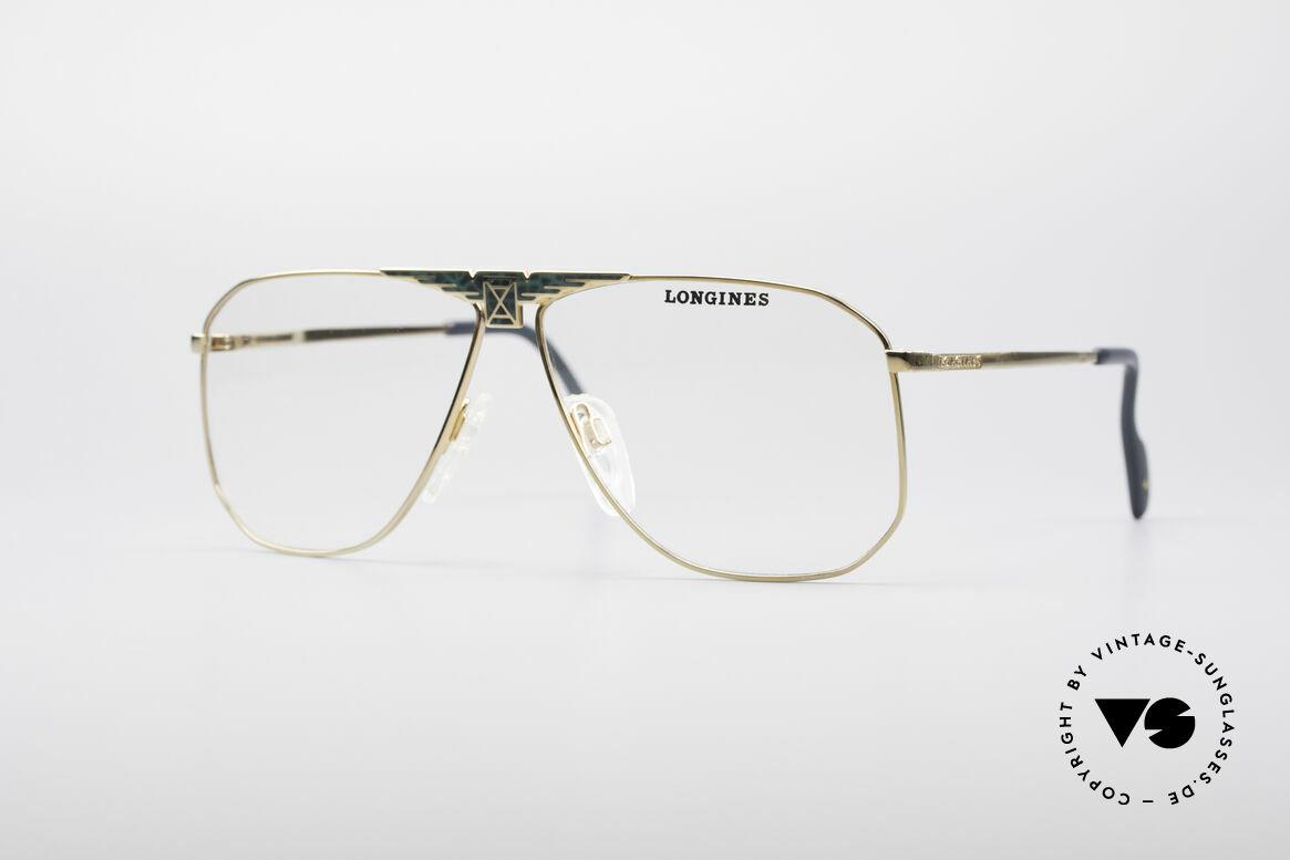 Longines 0155 80er Designer Fassung, hochwertige vintage Brillenfassung von LONGINES, Passend für Herren