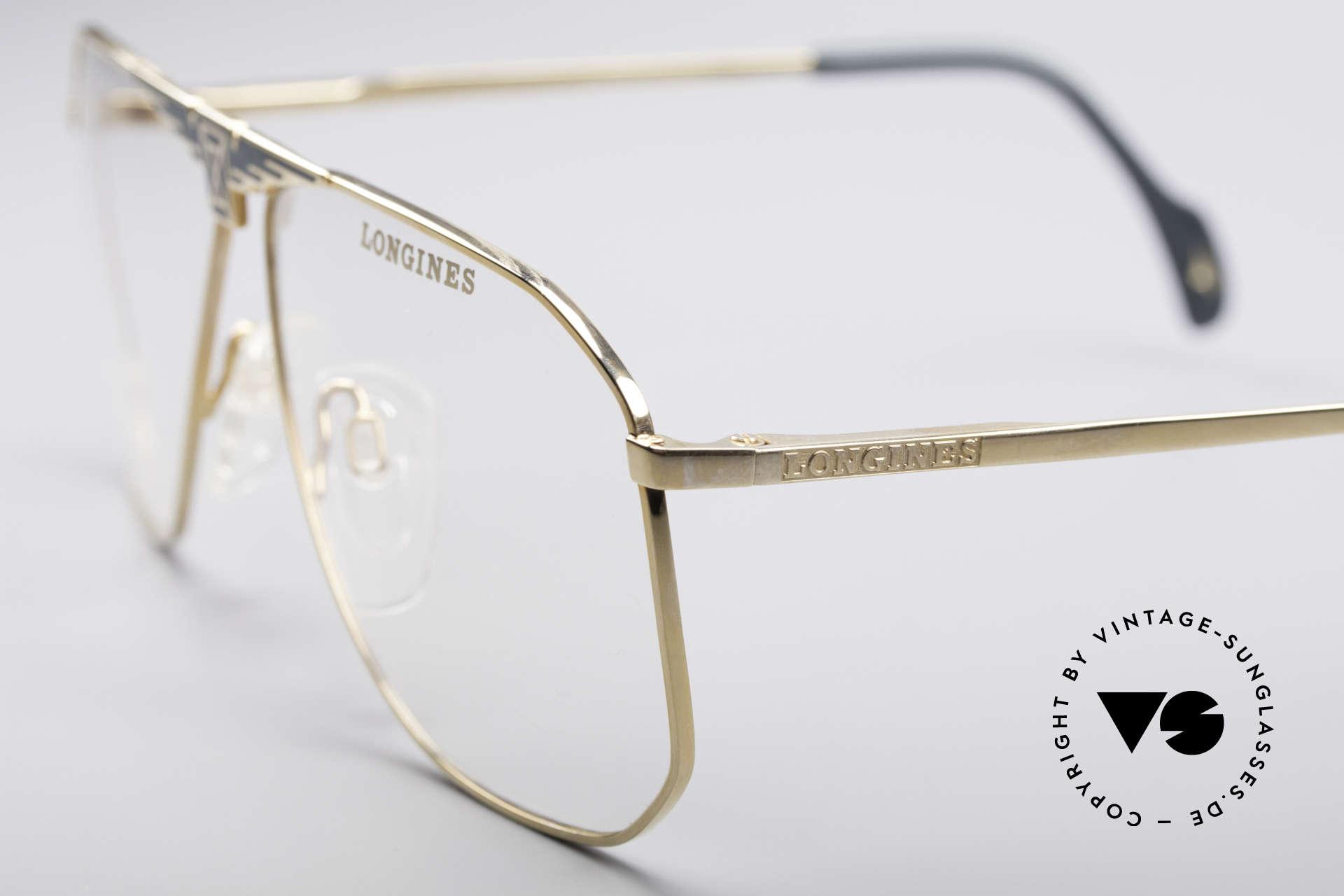 Longines 0155 80er Designer Fassung, Premium-Qualität und markant (mal 'was anderes'), Passend für Herren